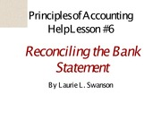 7.Reconciling the Bank Statement