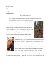 Ecology Special Assignment.docx