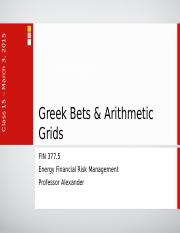 Lecture 12 - Greek Bets & Arithmetic Grids.ppt