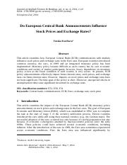 FINANCE 1 - Influence of European Central Bank....pdf
