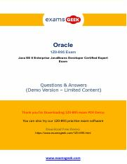 Actual Oracle 1Z0-895 Exam Questions - How To Prepare.pdf