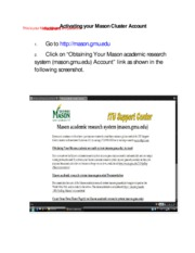 Activating your Mason Cluster Account