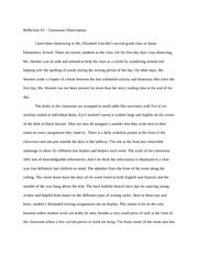 Classroom Observations Reflection Paper