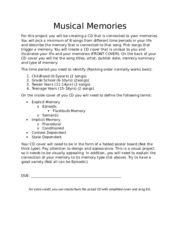 Music and Memory CD Project