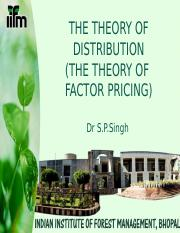 Theory of Distribution part I