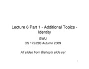 CS283 - Lecture 6 - Part 1 - Additional Topics - Identity