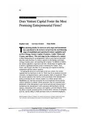Does_Venture_Capital_Foster_the_Most_Promising_Entrepreneurial_Firms_
