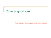 Review questions for midterm