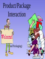 product package interaction report