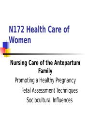 N172 Pregnancy Lecture 4