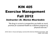 KIN 405 Lecture 1 and 2