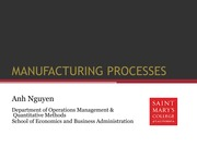 Ch. 2 Manufacturing processes slides