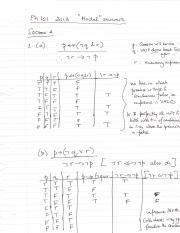 PH101 Exam2013 Model Answers