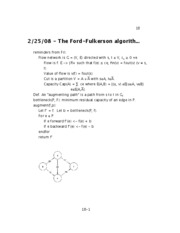 08 - The Ford-Fulkerson algorithm for maximum flow