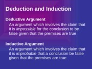 1.3 Deductive and Inductive Arguments