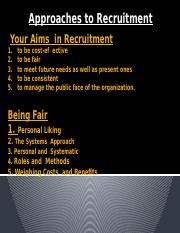 Your Aims  in Recruitment (1)
