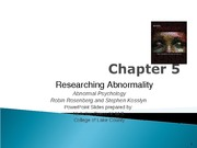 Chapter 5 Abnormal Psychology S11 for posting