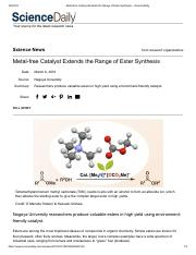 Metal-free Catalyst Extends the Range of Ester Synthesis -- ScienceDaily.pdf