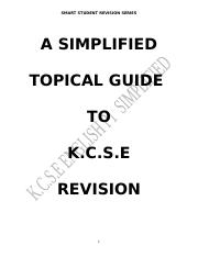 K.C.S.E ENGLISH- A SIMPLIFIED TOPICAL GUIDE