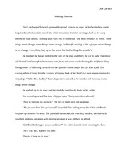 Walking Distance- Essay- 3rd person 2nd draft