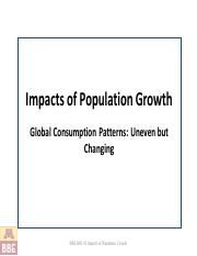 BBE1002 2.1 Impacts of Economic Growth F2016w