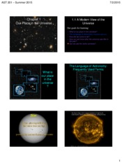 Lecture Slides on Our Place in the Universe