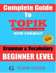 TOPIK Grammar & Vocabulary Beginner Level.pdf