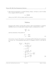 PHYS 205 Fall 2004 Midterm Exam Solutions
