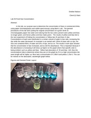 Lab 6 Dye concentrations