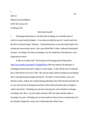 cosf 100 take home essay 2