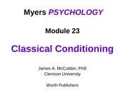 myers23 (Classical Conditioning)