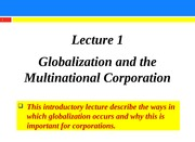 Lecture 1 - Introduction IFM Part A