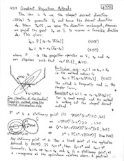 CHEM 331 Gradient Projection Methods Notes