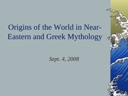 Greek Mythology, Lecture 3
