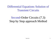 EEE202_Lect14_Second Order Transient Circuit