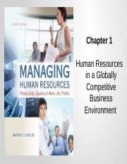 Chapter 1 HR in a Globally Competitive Business Environment