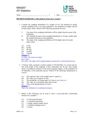 MA6207 Revision Exercise 1(solution)