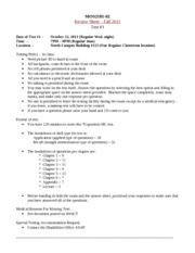MOS2181-02 test #1 review sheet fall 2011