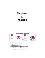 Alcohols  Phenols (1)-Student Copy