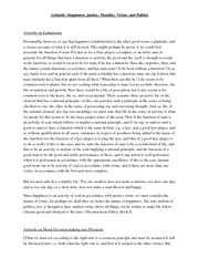 essay on aristotle happiness Aristotle believes that eudaimonia is the final goal in life he notes that pleasure is related to happiness, but it is not the highest good he feels that.