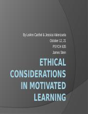 week 4Ethical Considerations in Motivated learning