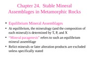 Ch 24 Mineral Assemblages