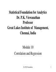 Statistical Foundation for Analytics-Module 10