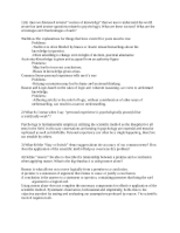 Psych 312 Exam 1 Study Guide