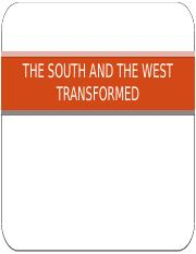 Chapter 19-THE SOUTH AND THE WEST TRANSFORMED.pptx