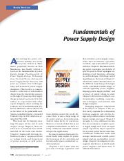 07956326_2 pdf - Book Review Fundamentals of Power Supply
