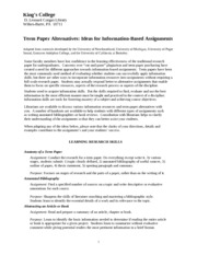 term paper alternatives Download citation on researchgate | alternatives to the term paper: creative assignments that develop information literacy skills | information literacy skills are core university competencies that should be mindfully woven into course curriculum (acrl, 2000 grafstein, 2002.