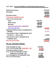 ACC 410A  Gross Profit Method with Alternative soluitons Annotatred.doc