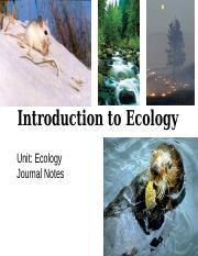 notes - Intro to Ecology notes.ppt