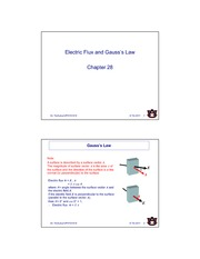 Chapter 28 Electric Flux and Gauss Law